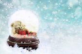 Teddies in a Snow Globe — Stock Photo