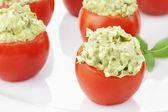Pesto and Avocado Stuffed Tomatoes 2 — Stock Photo
