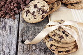 Chocolate Chip Cookies and Chocolate Chips — Stock Photo
