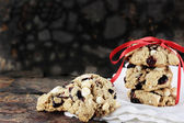Cranberry and White Chocolate Chip Cookies — Stock Photo