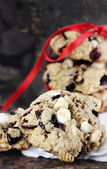 White Chocolate Chip and Cranberry Cookies — Stock Photo