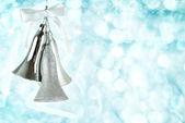 серебряный рождественские колокола — Стоковое фото