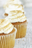 Pumpkin Spice Cupcake with Cream Cheese Icing — Stock Photo