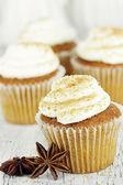 Cupcakes de calabaza especia — Foto de Stock