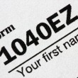 U.S. Tax Form 1040EZ - Stock Photo