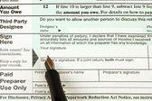 Abd vergi formu ve kalem — Stok fotoğraf