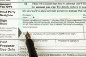 Amerikanska skatt form och penna — Stockfoto