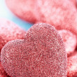 Stock Photo: Sparkly Red Heart Background