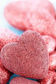 Sparkly Red Heart Background — Stock Photo