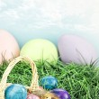 Tie Dyed Easter Eggs - Stock Photo