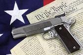 Pistola y constitución — Foto de Stock