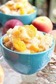 Peach Cobbler — Stock Photo