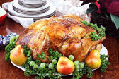 Delicious Turkey Dinner — Stock Photo