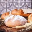 Fresh Baked Loaves of Breads — Stock Photo
