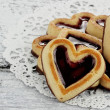 Group of Heart Shaped Shortbread Cookies — Stock Photo
