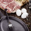 Cast Iron Skillet — Stock Photo