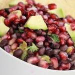 Black Bean, Pomegranate and Avocado Relish — Stock Photo