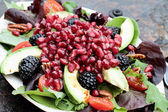 Fresh Pomegranate and Avocado Salad — Stock Photo