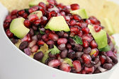 Black Bean, Pomegranate and Avocado Relish — Stock Photo