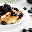 Pancakes and Fresh Berries — Stock Photo