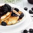 Pancakes and Fresh Berries — Stock Photo