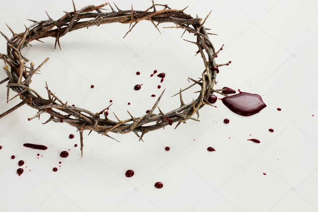 Corona de espinas y sangre — Foto de stock © StephanieFrey #43493589