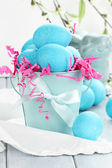 Blue Easter Eggs — Stock Photo
