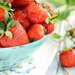 Macro of Fresh Strawberries — Stock Photo