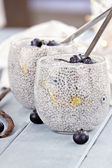 Chia Seed Pudding — Stock Photo