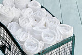 Container of Cleaning Rags — Stock Photo
