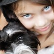 Beautiful Girl and Her Puppy — Stock Photo #50120497