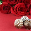 Engagement Ring and Chocolates — Stock Photo #8081612