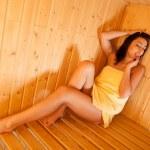 Beautiful girl in sauna — Stock Photo #16492483
