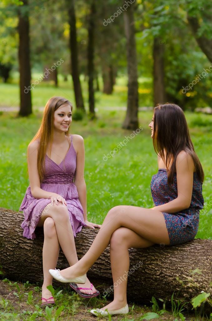 Depositphotos Stock Photo Two Beautiful Girls Sitting Teen Girl Beauty Pics