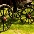 Old black and red carriage — Stock Photo