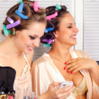 Young housewives having good time — Stock Photo