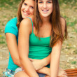 Two teenage girls having fun — Stock Photo
