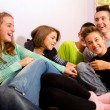Teenagers having fun — Stock Photo