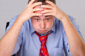 Worried tired businessman — Stock Photo