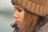 Portrait of the beautiful sad girl — Stock Photo