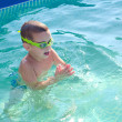 Little boy swimming in the swimming pool — Stock Photo #49905139