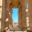 Colonnade of the Ramesseum in Luxor, Egypt — Stock Photo #13919750