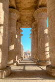 Colonnade of the Ramesseum in Luxor, Egypt — Stock Photo
