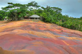 Coloured earth, Chamarel, Mauritius — Stock Photo