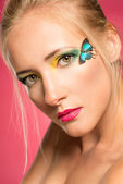 Butterfly make-up — Stock Photo