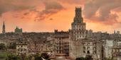 Havana üzerinden günbatımı — Stok fotoğraf