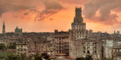 Pôr do sol sobre havana — Foto Stock