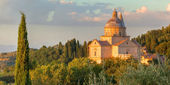 San Biagio church basked in the evening sun — Stock Photo