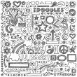 Sketchy Doodle Back to School Vector Design Elements — Stok Vektör #13193054