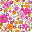 Flower Doodles Seamless Pattern Vector Background Design — Stock Vector #13501587